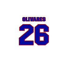 National baseball player Omar Olivares jersey 26 Photographic Print