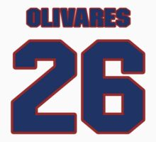 National baseball player Omar Olivares jersey 26 by imsport