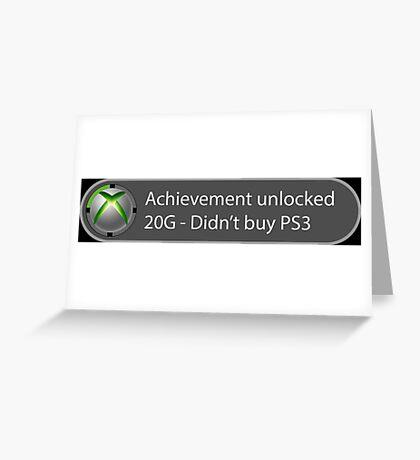 Achievement Unlocked - 20G Didn't buy PS3 Greeting Card