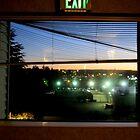 Through The Motel Hallway Window by Diane Arndt