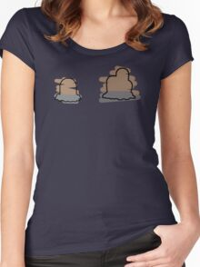 Diglett, Dugtrio Women's Fitted Scoop T-Shirt