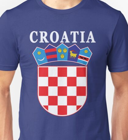Croatia Deluxe Football Jersey Design Unisex T-Shirt