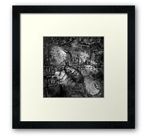 When The Stars Are Right - The Cat's Paw Nebula in Scorpius (black & white version) Framed Print