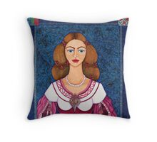 Ines de Castro - The love crowned Throw Pillow