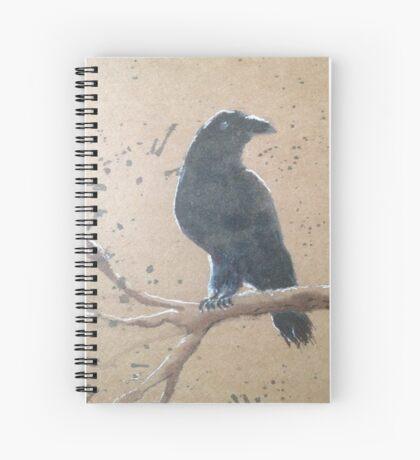 Winter Crow Spiral Notebook
