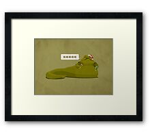 Jabba-Claus Framed Print