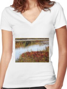 Fall foliage  Women's Fitted V-Neck T-Shirt