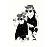 at barbershop Art Print