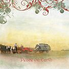 "Amish Scene ""Peace on Earth"" ~ Greeting Card by Susan Werby"