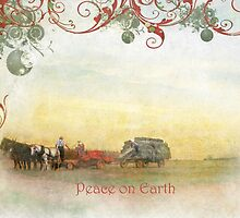 """Amish Scene """"Peace on Earth"""" ~ Greeting Card by Susan Werby"""