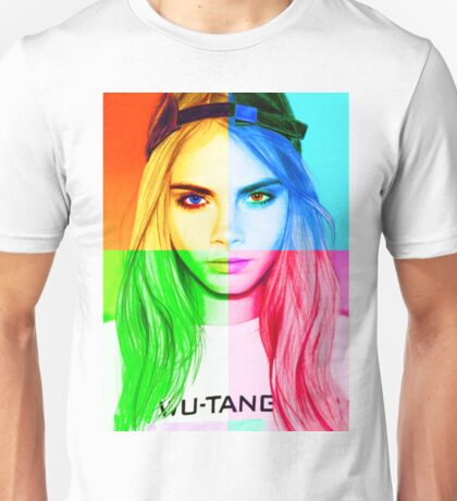 Cara Delevingne pencil portrait 3 Unisex T-Shirt