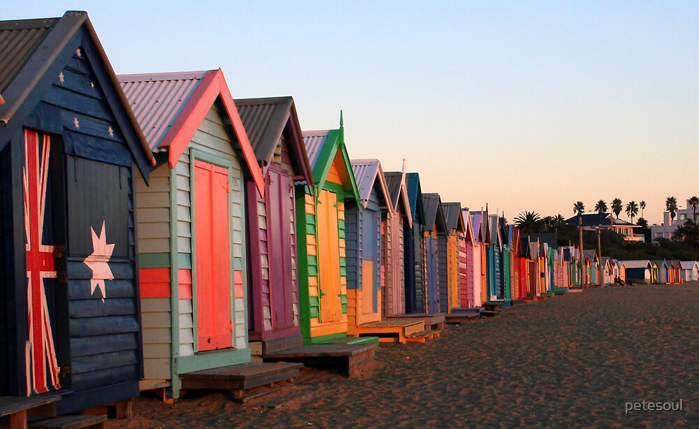 Brighton Beach Huts by petesoul