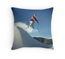 A Jump in the Backcountry Throw Pillow