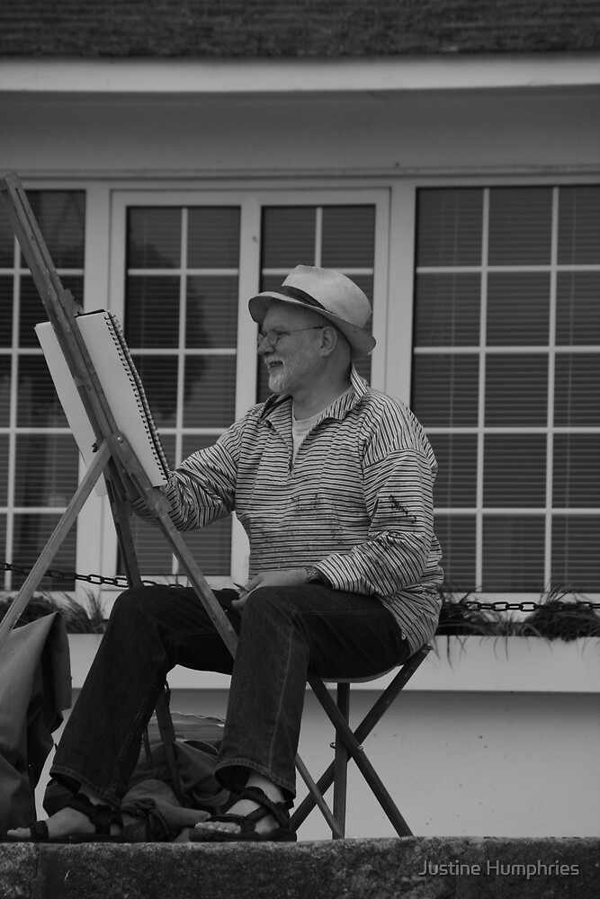 Artist at work by Justine Humphries