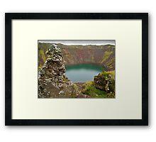 Kerið Crater Lake, Iceland Framed Print