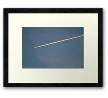 Jet Plane Smoke Tail Framed Print