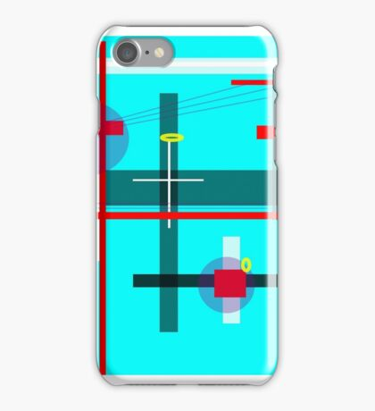 AQUAMARINE ABSTRACT iPhone Case/Skin