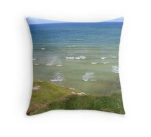 View form the Costal Path II Throw Pillow