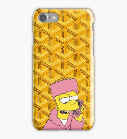 Goyard killa bart Gold iPhone Case/Skin