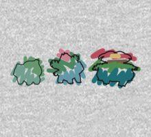 Bulbasaur Evoloution Kids Clothes