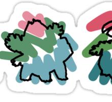 Bulbasaur Evoloution Sticker