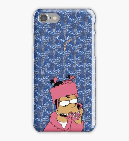 Goyard Trill Bart Blue  iPhone Case/Skin