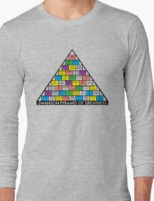The Swanson Pyramid of Greatness Long Sleeve T-Shirt
