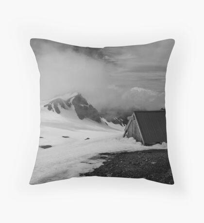 Snow Hut Throw Pillow