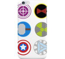 Avengers symbols iPhone Case/Skin
