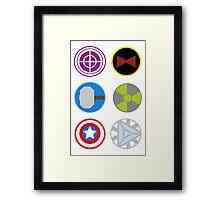Avengers symbols Framed Print