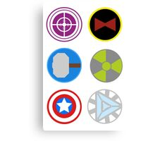 Avengers symbols Canvas Print
