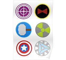 Avengers symbols Poster