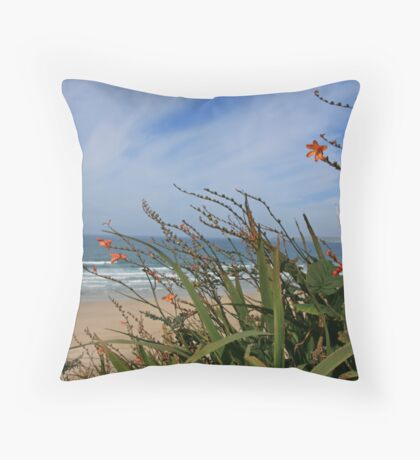 Porth Kidney Sands VI Throw Pillow
