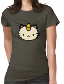 Hello Meowth Womens Fitted T-Shirt