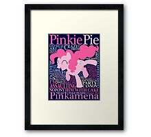 The Many Words of Pinkie Pie Framed Print