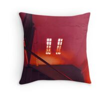 Upstairs Throw Pillow
