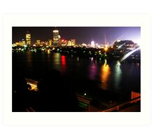 Boston Nightlife Art Print