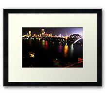 Boston Nightlife Framed Print