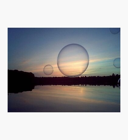 Bubble Above the Water Photographic Print