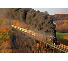 Chesapeake & Ohio #614 - Moodna Viaduct - Salisbury Mills NY Photographic Print