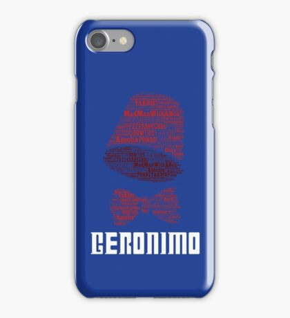 Geronimo - 11th Doctor's Quote - Doctor Who iPhone Case/Skin