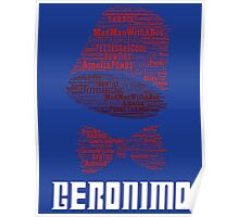 Geronimo - 11th Doctor's Quote - Doctor Who Poster