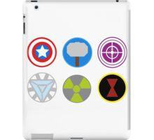 Avengers symbols-horizontal  iPad Case/Skin