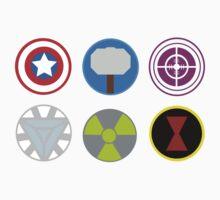 Avengers symbols-horizontal  Kids Clothes