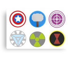 Avengers symbols-horizontal  Metal Print