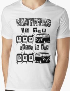 What happens in the VW BUS stays Mens V-Neck T-Shirt