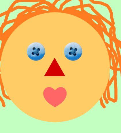 Rag Doll Face Sticker