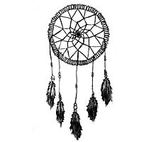 Sketchy Dreamcatcher Photographic Print
