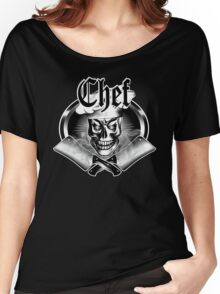 Chef Skull and Smoking Cleavers 3.1 Women's Relaxed Fit T-Shirt