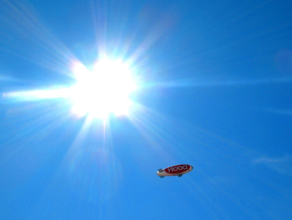 Blimp and Sun by Tommy Seibold